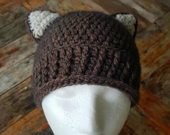 Crochet Fox/Bear Beanie
