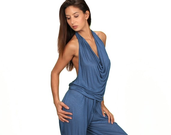 Cyber Monday Sale Evelina Onepiece Jumpsuit in Periwinkle for Womens Summer Fashion by Paramita Designs
