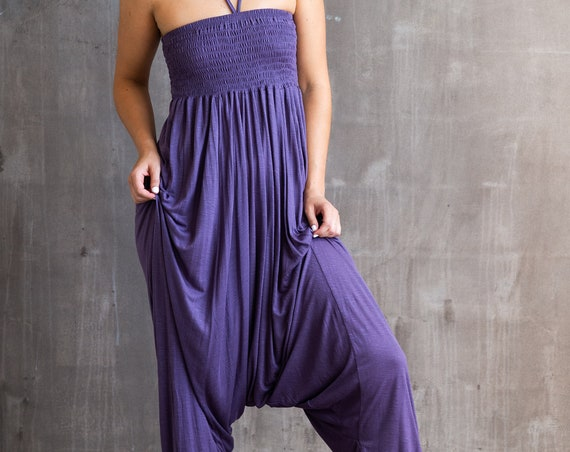 Chandra Punjabi Jumper Onesie Romper in Dusty Lavender for Womens Fashion Boho Festival Wear Paramita Designs Wholesale Yoga Clothing