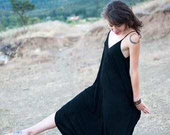 Black Bamboo Onesie Jumper Yoga Romper