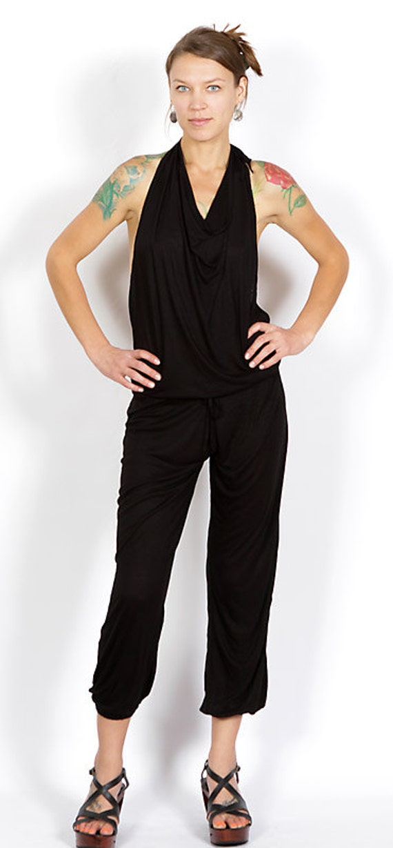 Evelina Jumpsuit Onesie in Black for Womens Fashion by Paramita Designs Resort Wear Gift for her Wholesale Wo