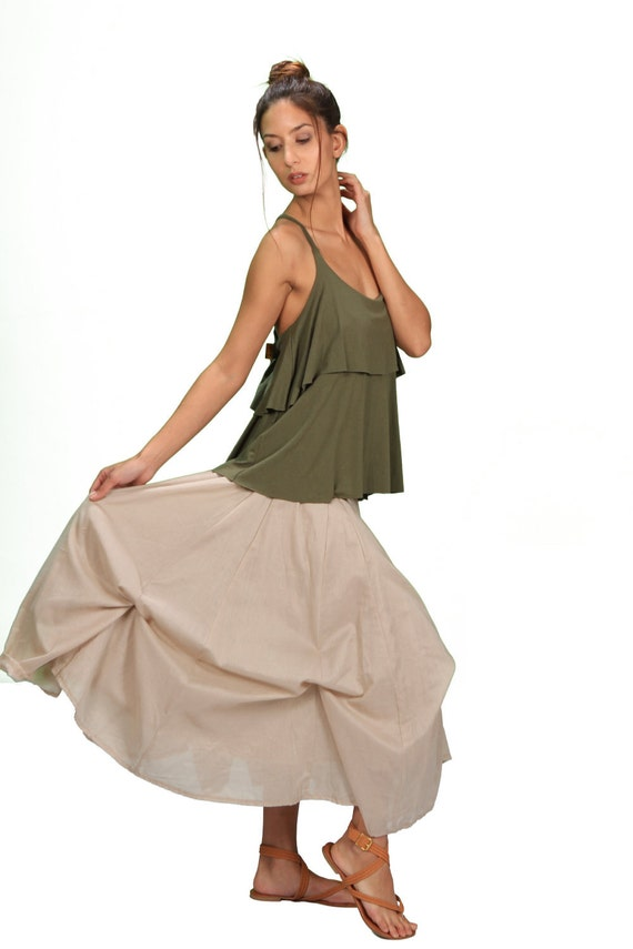 Fall Sale! Blooming Lotus Multiple Ties Adjustable Length Skirt In Cream for Womens Fall Fashion