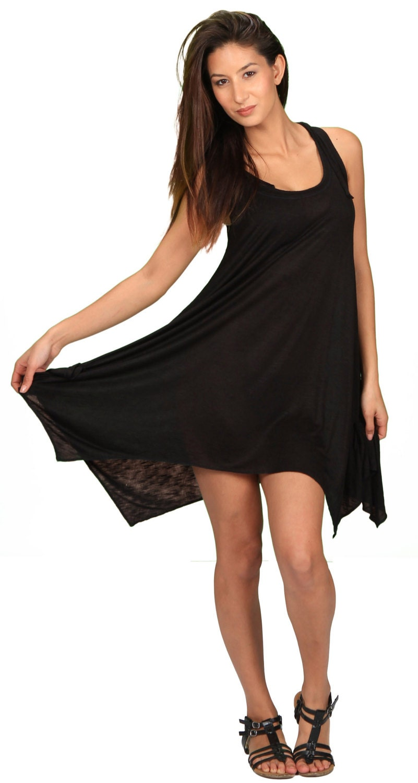 146f462f812b6 Pixie Hoodie Sleeveless Dress in Black for Womens Fashion Boho ...
