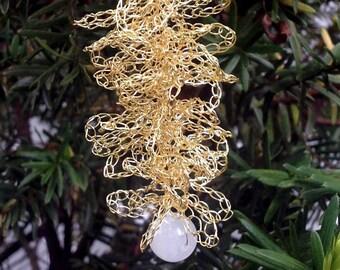 Gold Fir Twig Ornament