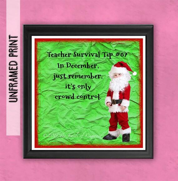 Best Teacher Gifts Funny Art Gift Teacher Christmas Gift | Etsy