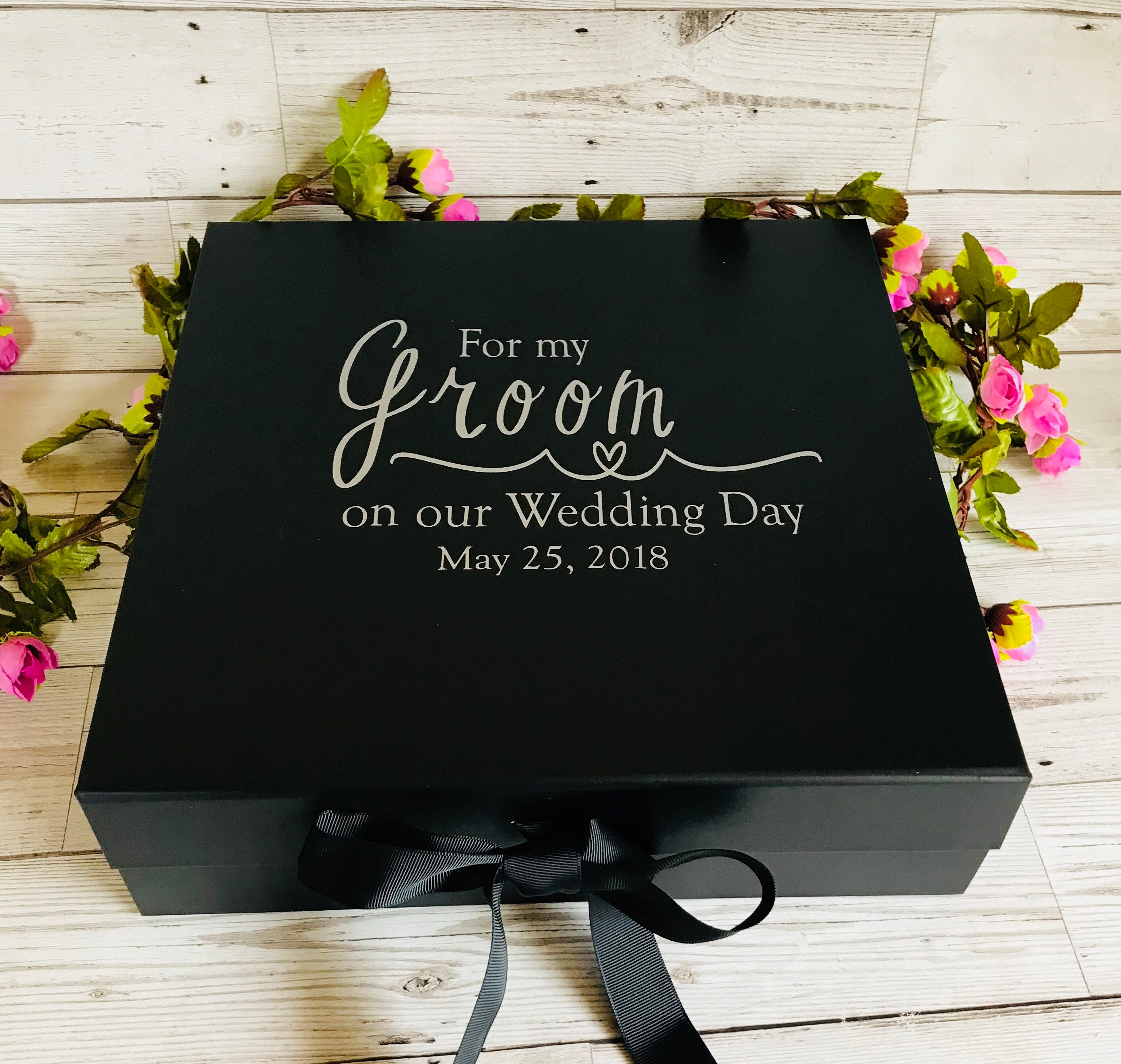 Gift For My Husband On Our Wedding Day: Groom Box For My Groom On Our Wedding Day Gorgeous Groom