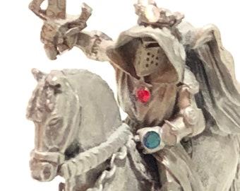 VINTAGE Ral Partha Pewter Templar Knight, Rawcliffe Pewter Dungeons & Dragons