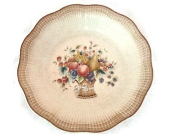 Vintage Mikasa Grand Manner Platter,  Pottery Mikasa,  Vintage Home Decor,  Housewarming Gift, Fruit Basket, Vintage Platter Mom Teen