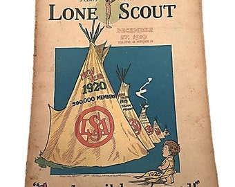 Gee,  How It Has Growed,  Lone Scout Magazine,  The Real Boys Magazine December 27 1919,  Perry Emerson Thompson   Teen
