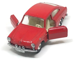 Matchbox Lesney No. 67 Volkswagen 1600 TL Fastback, Red, 1960's, made in England Original Vintage Die Cast Toy Car Collection