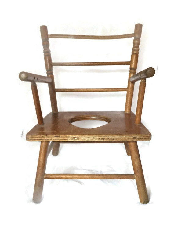 image 0 - Antique Wooden Potty Chair Toy High Chair Potty Chair For Etsy