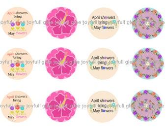 April Showers bottlecap images