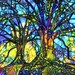 Gail Ehrlich reviewed Tree of Life, Tree Art Print, Stained Glass Trees, Abstract Trees, Colorful Abstract Art, Colorful Art, Abstract Art Print