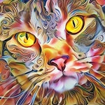 Tabby Cat Art, Colorful Cat Print, Cat Painting, Psychedelic Art, Colorful Decor, Cat Lover Gift, Cat Photo, Colorful Wall Art, Felines
