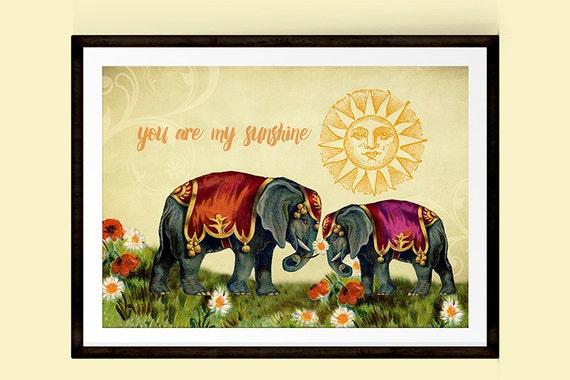 Mother Elephant Poster Mother/'s Love Wildlife Art Prints Large Animal Wall Art Animals Lover Gift Fine Art Photography Elephants Print