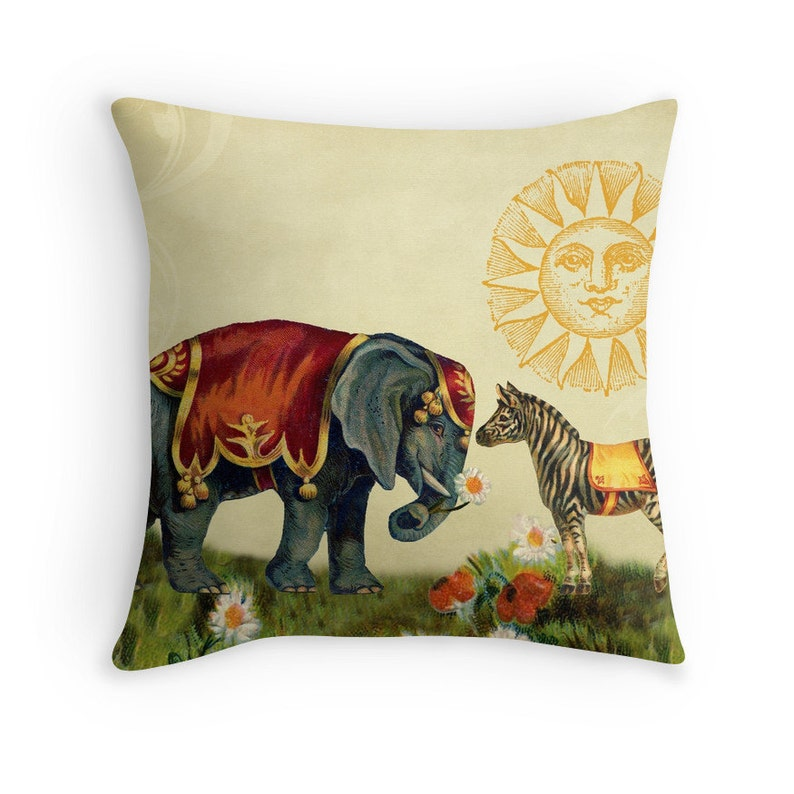 Elephant Cushion Throw Pillow Covers Pillow Covers 18x18 image 0