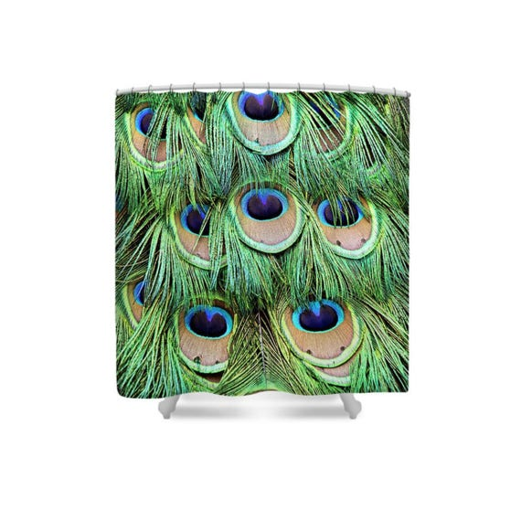 Peacock Shower Curtain Feather