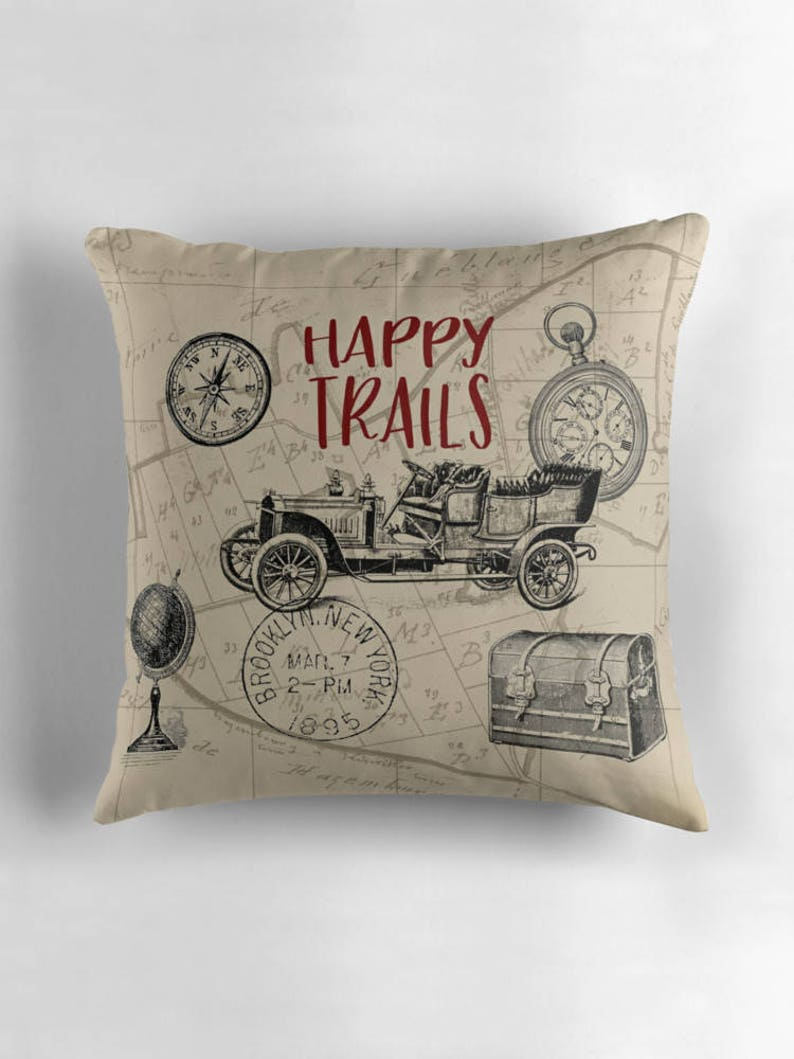 Happy Trails Travel Pillow Travel Gift Brooklyn NY New image 0