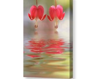 Flower Canvas Art, Love Canvas, Flower Photography, Large Canvas Art, Bleeding Hearts, Love Art, Flower Decor, Colorful Art, Colorful Decor