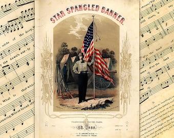 US Army, Star Spangled Banner, American Flag Art, Army Art, US Flag, Patriotic Decor, Americana, American Vintage, Military Art, USA Vintage