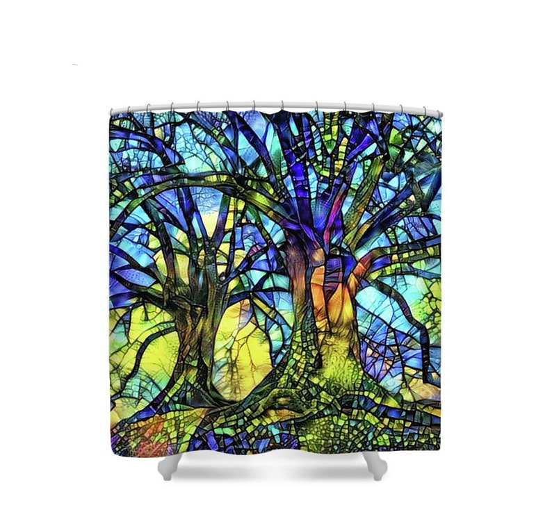 Tree Shower Curtain Trees Decor Nature Shower Curtain image 0