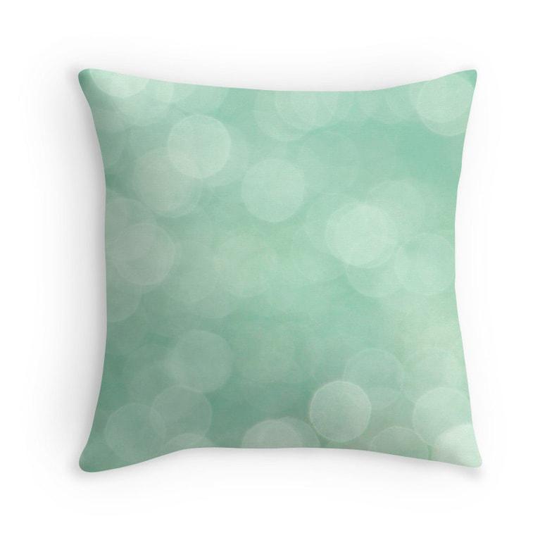 Mint Green Green Pillow Mint Pillow Mint Decor Abstract image 0