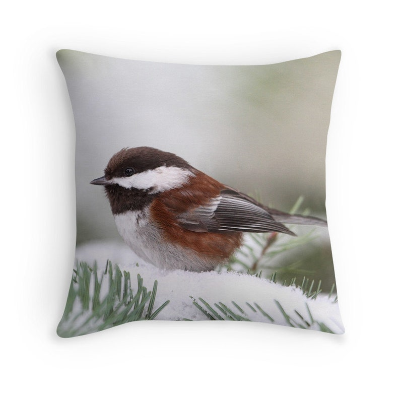 Woodland Cushion Wildlife Decor Winter Cushion Winter Throw image 0