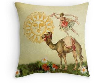 Ballerina, Gift for Dancer, Ballet Throw Pillow, Dance Decor, Cushion for Dancer, Animal Throw Pillow, Camel Cushion, Ballet Cushion, Dancer
