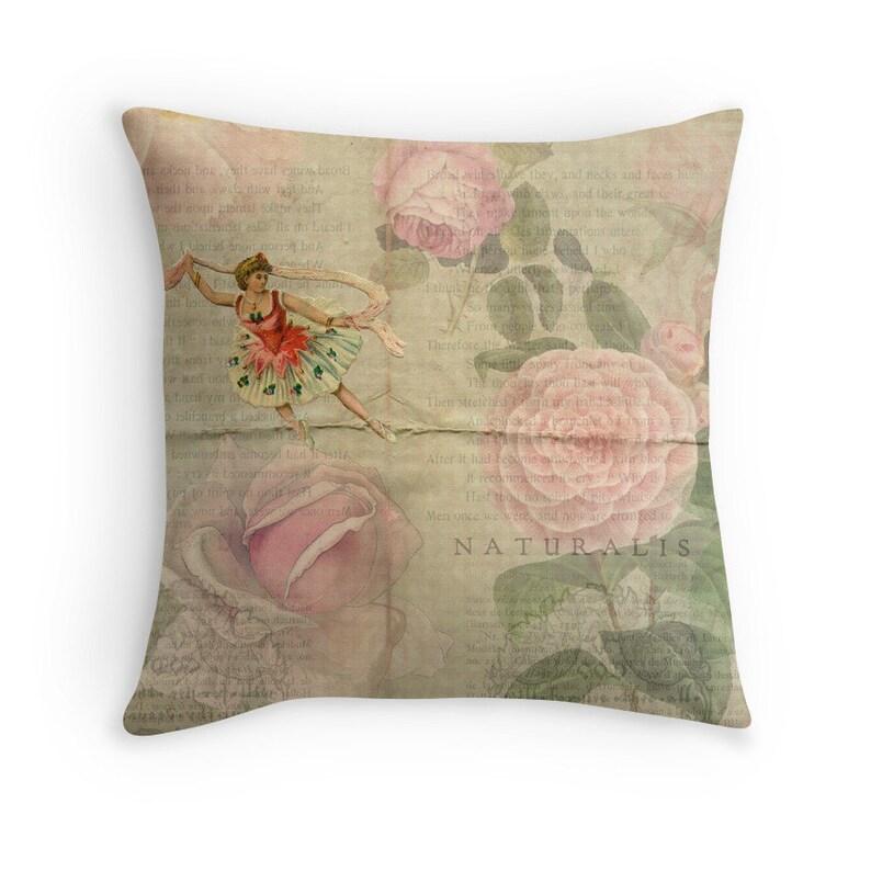 Gift for Dancer Floral Cushion Dancer Cushion Ballet image 0