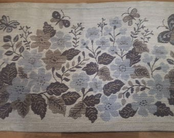"""Ingalill SKOGLUND, Borås Jacquard, textile  """"Blomsteräng"""", signed IS, from the mid 60's"""