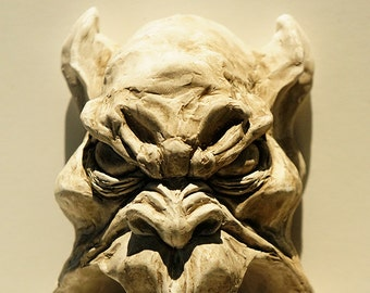 Hanging Gargoyle Face can also be made into a wall fountain