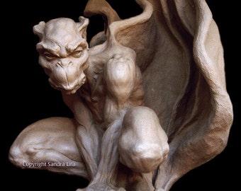 Sentinel Gothic Gargoyle Statue Large Scary Guardian