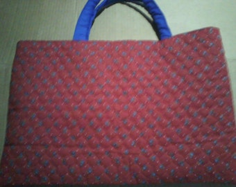 Red and Blue Large Tote Bag