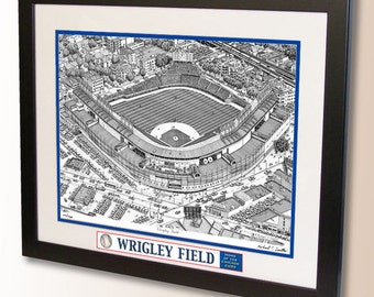 Wrigley Field Art, home of the Chicago Cubs