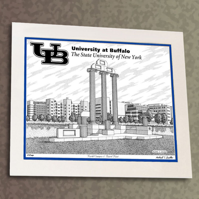 UB University at Buffalo North Campus - Limited Edition Hand Signed Pen and  Ink Art Print