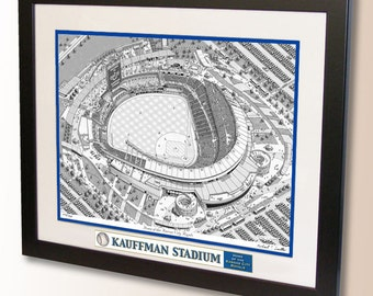 Kauffman Stadium Art, home of the Kansas City Royals