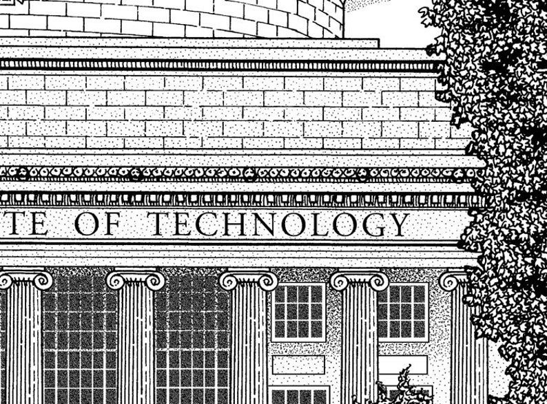 MIT MIT poster art sign MIT alumni graduation gift Massachusetts Institute of Technology hand signed wall art print