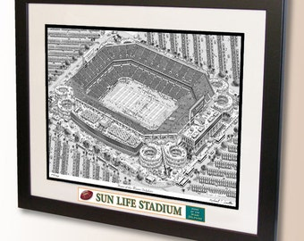 Sun Life Stadium Art, home of the Miami Dolphins