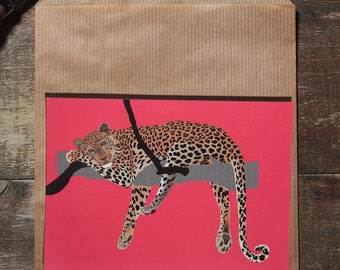 The leopard postcard illustration