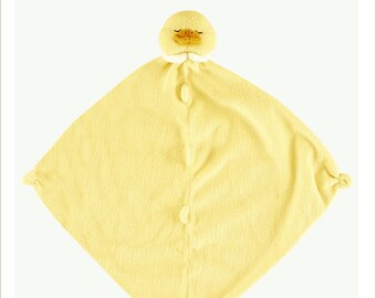 ca813ddd634a7 Monogrammed Duck Lovie   Angel Dear   Personalized Blankie   Security  Blanket   Baby Blankie Gift   Animal Blankie