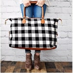 Buffalo Plaid Weekender, Buffalo Plaid Tote, Personalized Luggage, Monogram Overnight Bag, Weekender Tote, Carry On, Travel Tote, Tote Bag