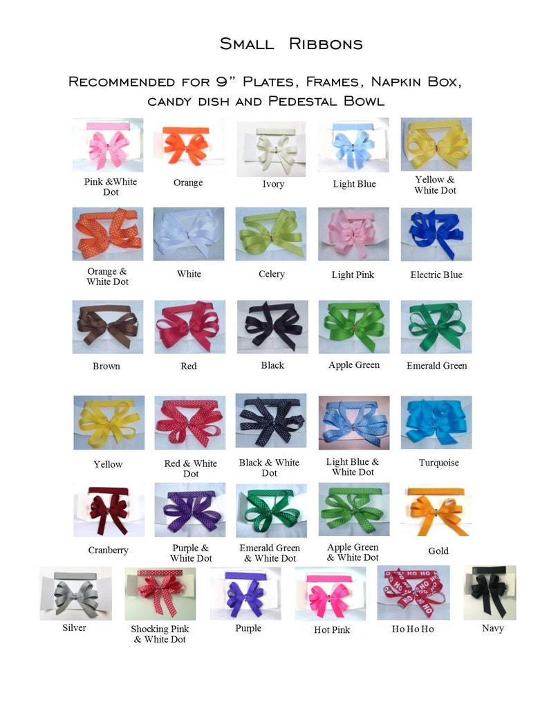 Additional SMALL 5/8 Ribbons  Prissy Plate  Ribbon image 0