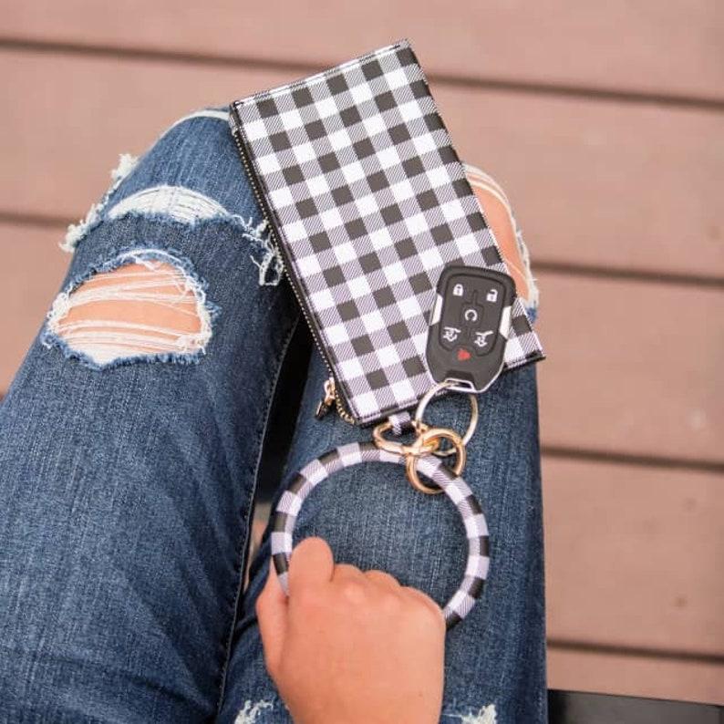 Keychain tassel bangle bracelet with clutch  Boutique image 0
