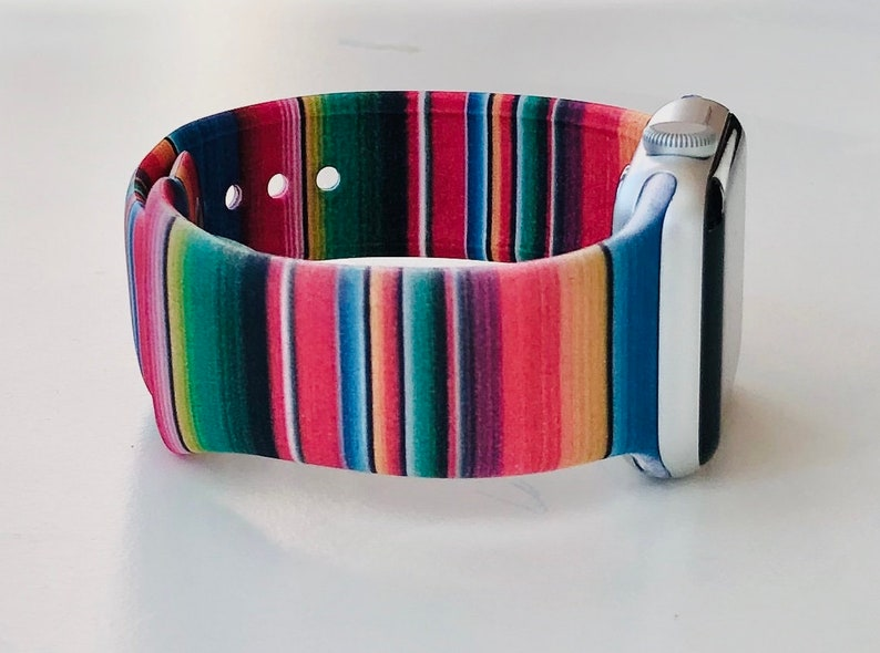 Serape and Cactus Apple Watch Band with Free Shipping 38mm image 0