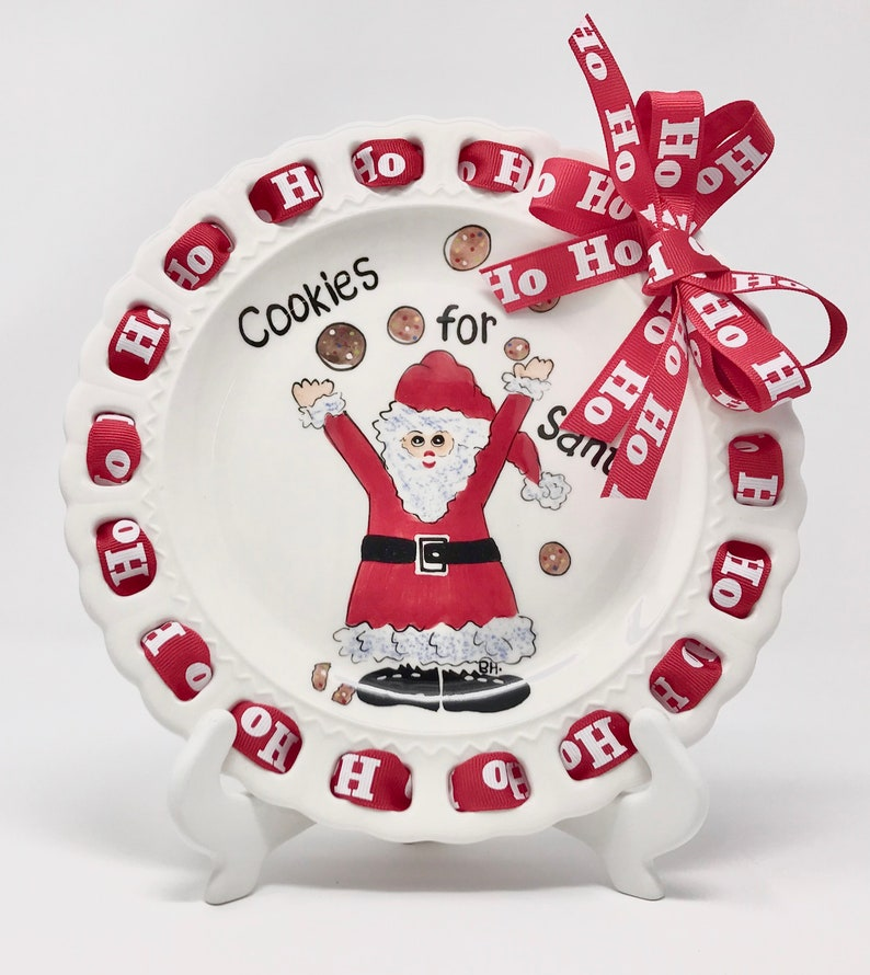 Cookies for Santa Plate Cookie Plate Christmas Cookie Plate image 0