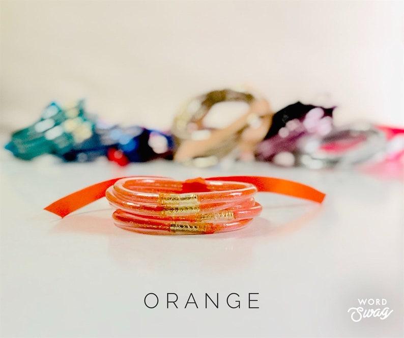 Stacked Glitter Jelly Bangle Set  Stacked Jelly Bracelets  5 image 0