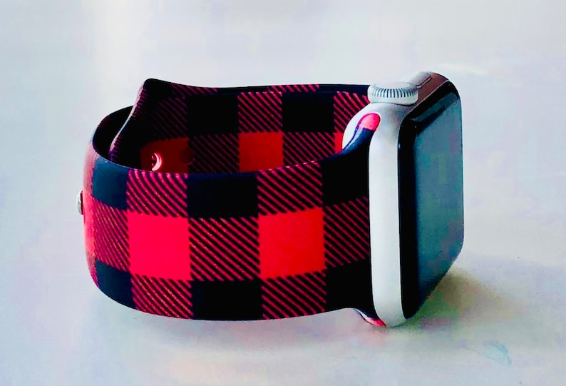 Buffalo Plaid Apple Watch Band with Free Shipping 38mm and image 0