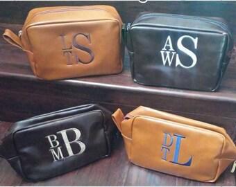 Personalized Men's Shaving kit, Men's toiletry bag, Groomsman Gift, Men's dopp kit, Monogrammed shaving kit, Travel bag
