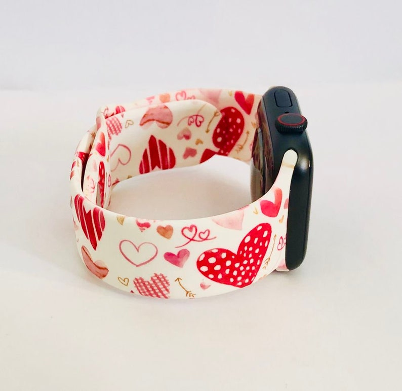 Valentine's Heart Love Letters Silicone Apple Watch Band Hearts