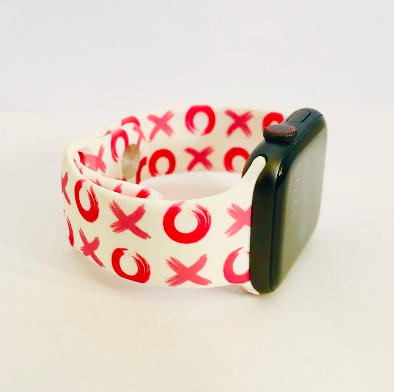 Valentine's Heart Love Letters Silicone Apple Watch Band XoXo